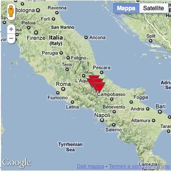 Aquila Italy Map.The Temporary Seismometric Network Of Sulmona L Aquila Italy